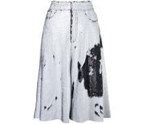 sequin embellished wide leg shorts - women