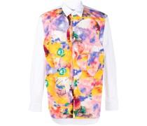 abstract-print long-sleeved shirt