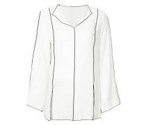 contrast trim blouse