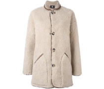Mantel mit Shearling-Effekt