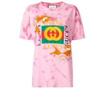 T-Shirt mit Fisch-Stickerei