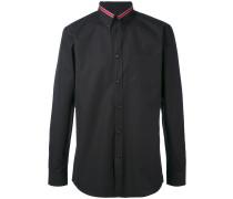 Button-down-Hemd mit Kontrastkragen