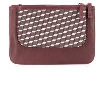 patterned clutch bag