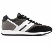 H429 Sneakers mit Kontrasteinsätzen