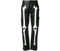 bone print trousers
