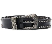 silver studded western buckle belt