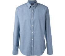 Chambray-Hemd mit Kontrastknöpfen - men