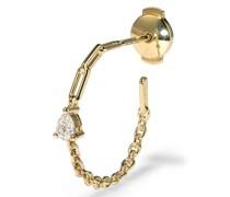 18kt Céroles Gelbgoldohrringe mit Diamant