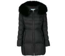 trimmed hood padded coat