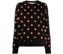 Sweatshirt mit Paillettenpunkten