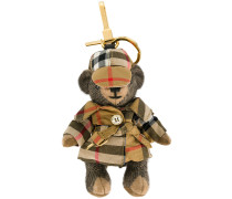 Thomas Bear Charm in Vintage Check Trench Coat