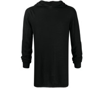 lightweight knitted hoodie