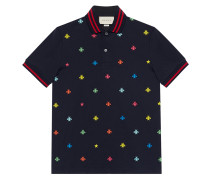 Cotton polo with bees and stars