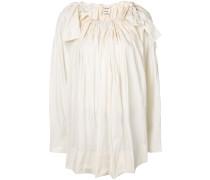 bow shoulder detail blouse