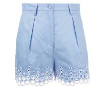 Shorts mit Lochstickerei - women - Baumwolle