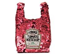 Kleine Handtasche im Ketchup-Design