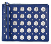 lion head studded pouch