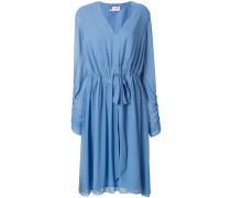 v-neck long sleeved dress