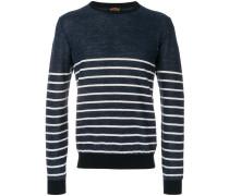 crew-neck striped jumper