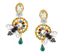 Bienen-Ohrclips mit Kristallen