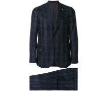 checked dinner suit
