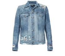 Jeansjacke mit Distressed-Optik