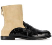Loafer mit Cut-Outs - women - Leder/Wildleder