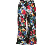 'Harley' Cropped-Hose mit floralem Print