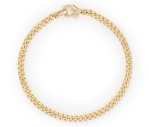 18kt Gelbgoldarmband mit Diamanten-Pavé