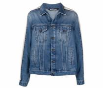 Jeansjacke mit Streifendetail