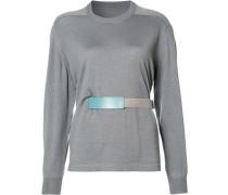 belted top - women - Seide/Wolle - M