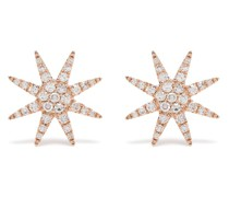 18kt rose gold diamond Sun stud earrings