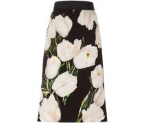 tulip print pencil skirt