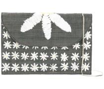 Schultertasche mit Blumenstickerei