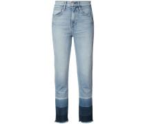 - Cropped-Jeans mit Einsätzen - women