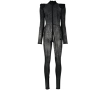 Catsuit mit Hahnentrittmuster
