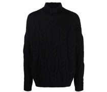 roll-neck cable-knit jumper