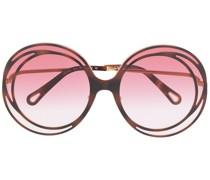 Runde 'Carlina' Oversized-Sonnenbrille