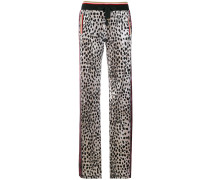 Cheetah Chenille track pants