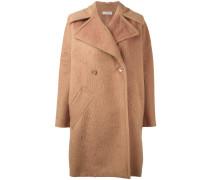 Langer Mantel mit breitem Revers