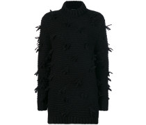 frayed knit jumper