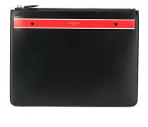 contrast stripe pouch
