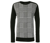 houndstooth check sweater
