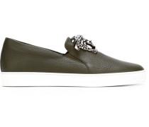 Slip-On-Sneakers mit Medusa-Schild