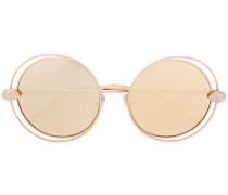 Vergoldete Sonnenbrille mit Swarovski-Kristallen
