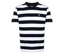 Gestreiftes T-Shirt mit Logo-Patch