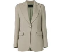 peak lapel single-breasted blazer