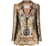 patchwork jacquard jacket