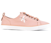Canvas-Sneakers mit Logo
