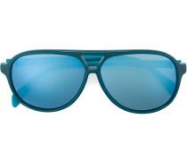 Pilotenbrille mit blauen Gläsern